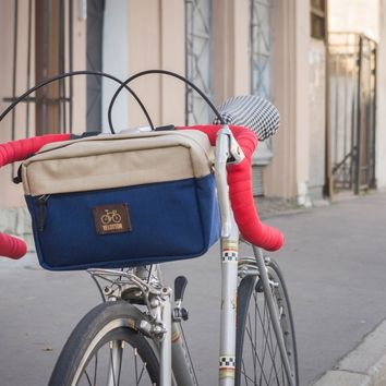'Big Eddy' Handlebar bag - Sand | Blue