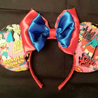 Wonder Woman / Super Girl Mouse Ears
