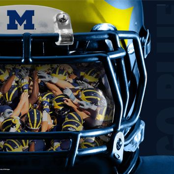 Michigan Wolverines Reflection 24x18 Football Poster