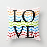 Love Chevrons Throw Pillow by PrintableWisdom | Society6
