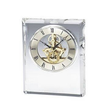 Personalized Free Engraving Crystal Rectangle Desk Clock