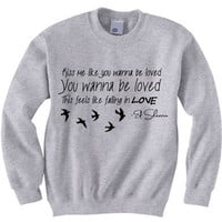 Ed Sheeran Kiss Me Lyrics Crewneck Sweatshirt