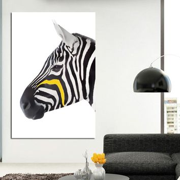 SELFLESSLY Black and White Zebra Canvas Art Prints Posters Animal Pictures Wall Art Painting Home Decoration For Living Room