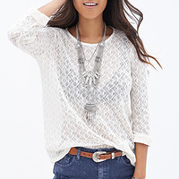 FOREVER 21 Open-Knit Top