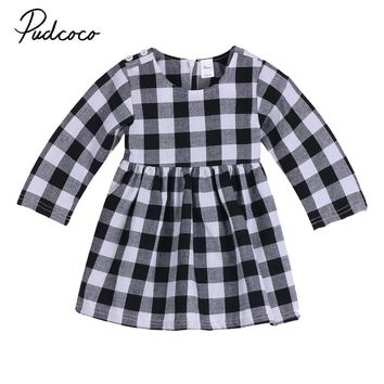 Newborn Baby Girls Dress Toddler Kids Dress Party Princess Girl Clothing Long Sleeve Autumn Round Neck Wedding Tutu 0-2T Cotton
