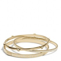 PAVE SIGNATURE C BANGLE SET