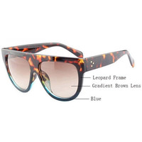 Women's Designer Flat Top Sunglasses Multiple Colors Available