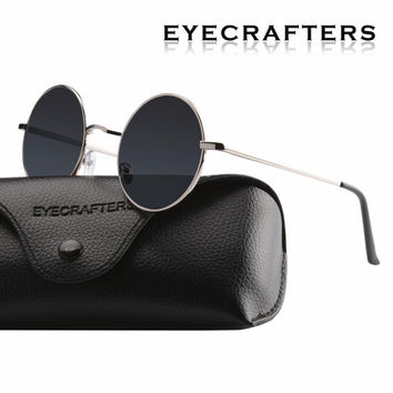 Men Small Vintage Retro John Lennon Glasses Women Driving Metal Eyewear New Brand Designer Classic Polarized Round Sunglasses