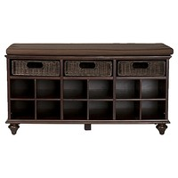Southern Enterprises Chelmsford Entryway/Shoe Bench in Espresso