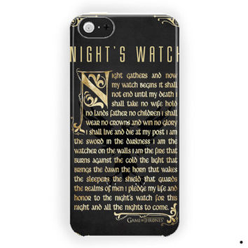 The Games Of Thrones Quotes Art For iPhone 5 / 5S / 5C Case