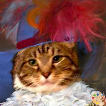 Cats in Costume Painting 376