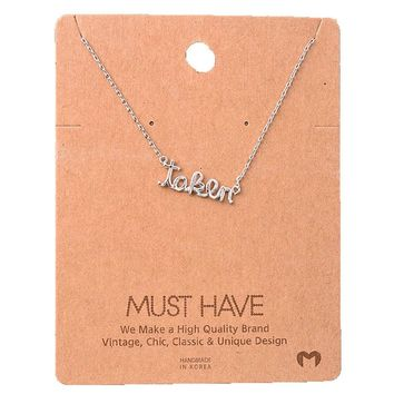Must Have-Taken Necklace, Silver