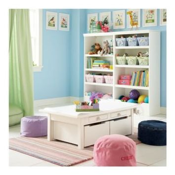 Kids' Play Tables: Kids White Adjustable Activity Table