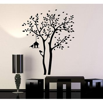 Vinyl Wall Decal Tree Branch Nest Box Leaves Room Decor Stickers Unique Gift (ig4347)