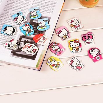 Cute Kawaii Hello Kitty Paper Bookmarks Creative Magnetic Bookmark For Books School Supplies Student 2917