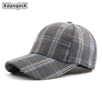Trendy Winter Jacket XdanqinX 2018 New Style Women's Snapback Cap Ladies Vintage Classic Plaid Baseball Caps Adjustable Size Men's Bone Visor Hat AT_92_12
