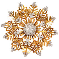 Van Cleef & Arpels Diamond Snow Flake Brooch