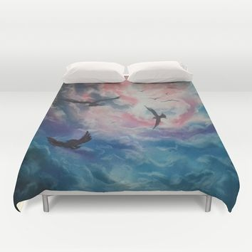 Free Birds Duvet Cover by Dim_kad