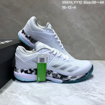 HCXX A475 Adidas Crazy flightlongli Bounce Running Shoes White Sliver
