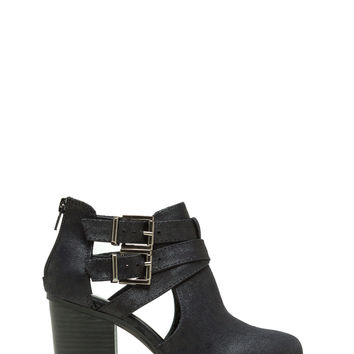 Made The Cut-Out Buckled Booties