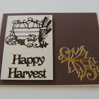 Handmade Card Happy Thanksgiving Harvest Thanks
