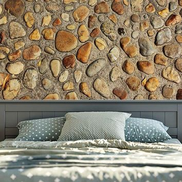 Retro 3D Stone Wall Printed Tapestry