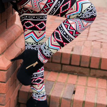 Mixed Up Leggings - Final Sale