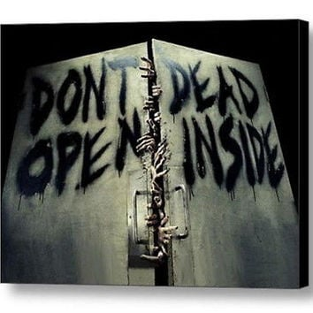 AMC The Walking Dead DON'T OPEN DEAD INSIDE Framed door sign picure