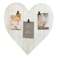 Whitewash Heart 3 Clip Picture Frame | Overstock.com Shopping - The Best Deals on Photo Frames & Albums