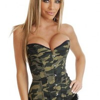 Camouflage Camo Queen Burlesque Corset Intimates @ Amiclubwear Intimates Clothing online store:Lingerie,Corset,Bustier,Women's Intimates,Sexy Intimate,Corset Intimates,intimates underwear,sheer intimates,silk intimates,intimates bras,holiday underwear,gar