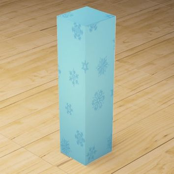 Blue Snowflakes Wine Gift Box