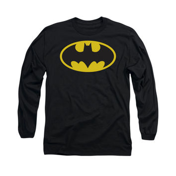 Batman Mens Classic Logo Long Sleeve T-Shirt