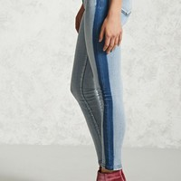 Colorblock Skinny Jeans