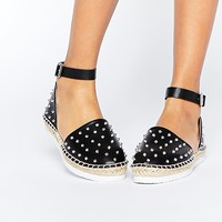 ASOS JACKER Two Part Studded Espadrilles