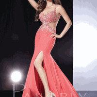 Panoply Evening Gown / Prom Dress 14546 Size 4 Coral