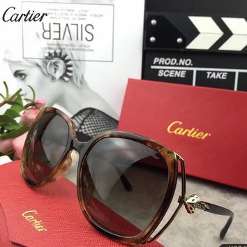 Cartier Woman Fashion Summer Sun Shades Eyeglasses Glasses Sunglasses-9