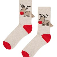 Tassel Christmas Reindeer Socks - Bags & Accessories