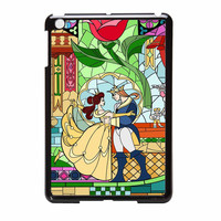 Rose Beauty And The Beast Disney Stained Glass iPad Mini 2 Case