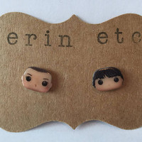 Handmade Plastic Fandom Earrings - Stranger Things - Eleven & Mike