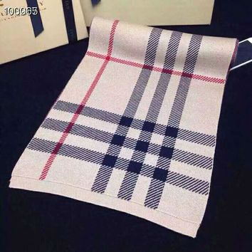 Burberry Autumn Winter Classic Plaid Cashmere Cape Scarf Scarves Shawl Accessories