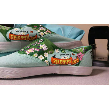 Pretty Odd Panic! At the Disco Handpainted Shoes