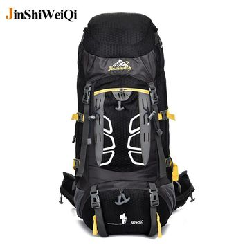 50 L Professional Outdoor Backpack Cambing Climbing Hiking Backpack Professional External Frame Travel Hike Sports Bag Rucksack