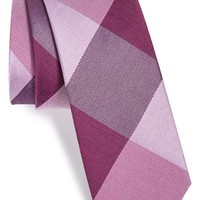 Men's The Tie Bar 'Bison' Silk Plaid Tie , Size Regular