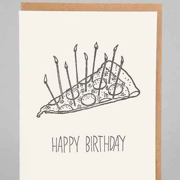 Pizza Cake Birthday Card- Assorted One