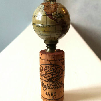 Globe Wine Bottle Cork - World Wine Bottle Stopper