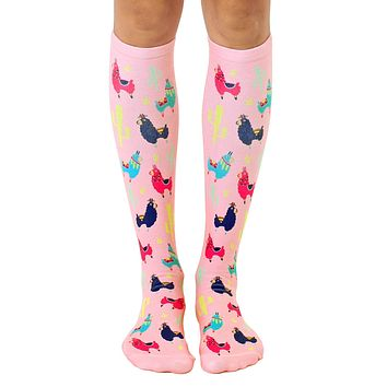 Llama Knee High Socks