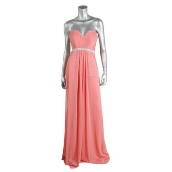 Terani Couture Chiffon Embellished Evening Dress