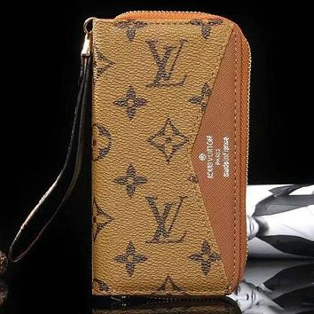 Perfect Louis Vuitton LV Fashion iPhone Phone Cover Case Wallet Purse For iphone 6 6s 6plus 6s-plus 7 7plus 8 8plus X