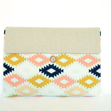 "Laptop Cover Clutch Custom Size 11.6"", 13"", 15.6"" MacBook Pro, MacBook Air, Chromebooks Custom Bag Clutch"