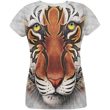 Tribal Tiger All Over Womens T-Shirt